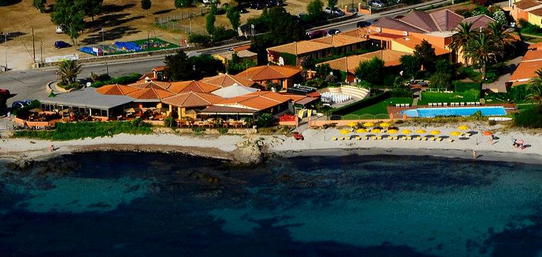 Veduta aerea dell'hotel